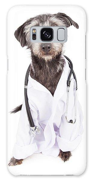 Dog Dressed As Veterinarian Galaxy Case