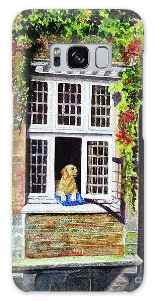 Dog In The Window Galaxy Case