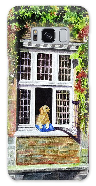 Dog In The Window Galaxy Case