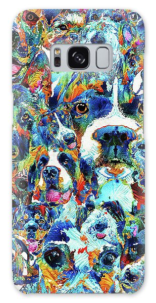 Dog Lovers Delight - Sharon Cummings Galaxy Case by Sharon Cummings