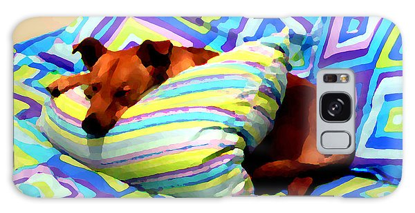 Dog Nap - Oil Effect Galaxy Case