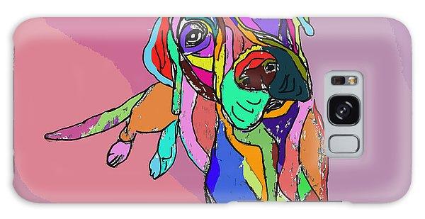 Dog Sketch Psychedelic  01 Galaxy Case