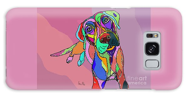 Dog Sketch Psychedelic  01 Galaxy Case