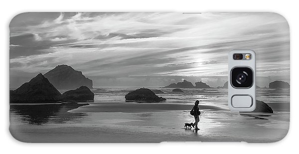 Dog Walker Bw Galaxy Case