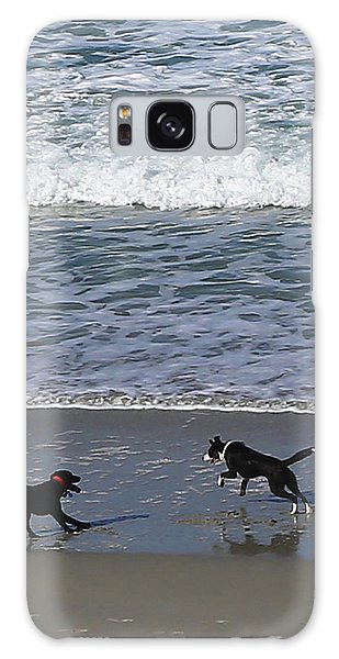 Galaxy Case featuring the photograph Doggie Fun by Nareeta Martin