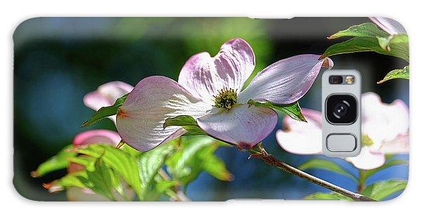 Dogwood Flowers Galaxy Case by Ronda Ryan