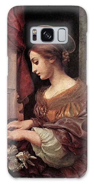 Dolci Carlo St Cecilia At The Organ Galaxy Case by Carlo Dolci