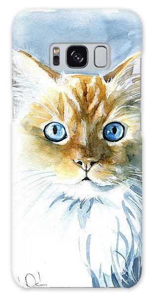 Doll Face Flame Point Himalayan Cat Painting Galaxy Case