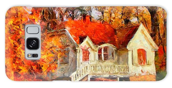 Doll House And Foliage Galaxy Case