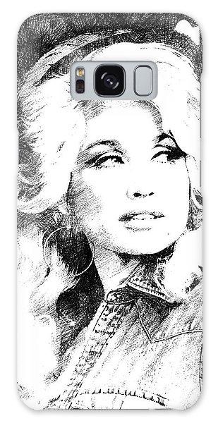 Dolly Parton Bw Portrait Galaxy Case