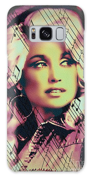 Dolly Parton - Digital Art Painting Galaxy Case
