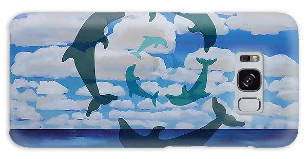 Dolphin Cloud Dance Galaxy Case