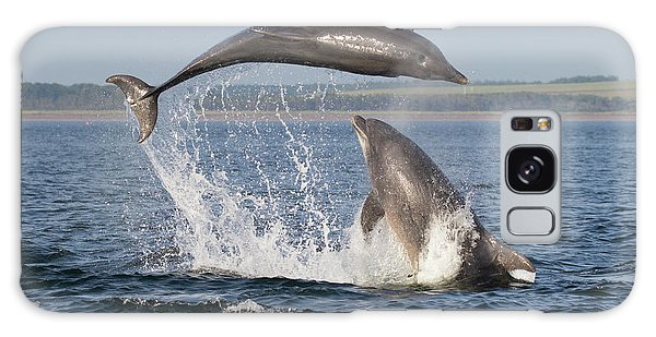 Dolphins Having Fun Galaxy Case