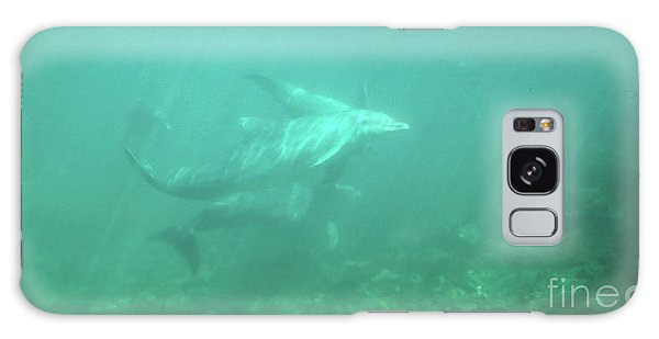 Galaxy Case featuring the photograph Dolphin Swim by Francesca Mackenney
