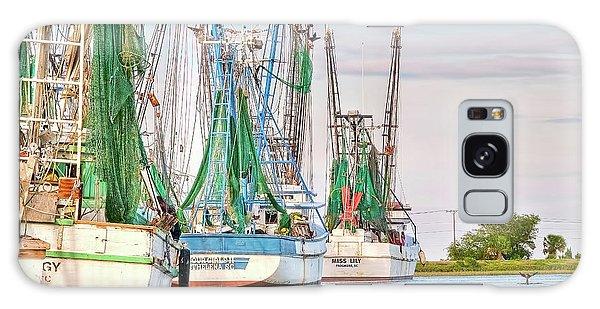Dolphin Tail - Docked Shrimp Boats Galaxy Case