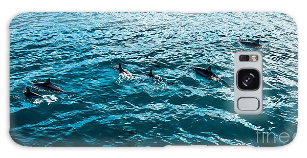 Dolphins Off Of The Na Pali Coast Galaxy Case
