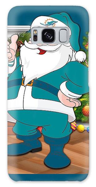 Santa Claus Galaxy Case - Dolphins Santa Claus by Joe Hamilton