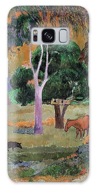 Dominican Landscape Galaxy Case by Paul Gauguin