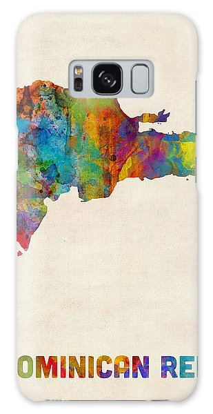 Dominican Republic Watercolor Map Galaxy Case