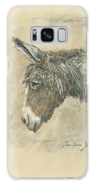 Donkey Galaxy Case - Donkey Portrait by Juan Bosco