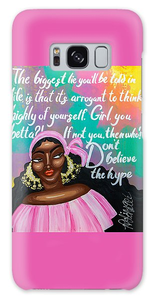Galaxy Case featuring the painting Don't Belive The Hype by Aliya Michelle