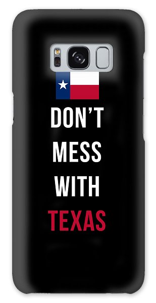 Patriotic Galaxy Case - Don't Mess With Texas Tee Black by Edward Fielding