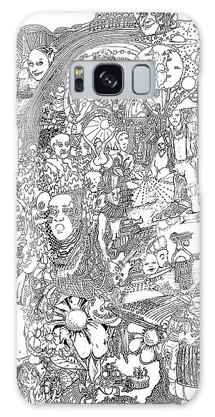 Doodle Art 1987 Galaxy Case by Steve  Hester