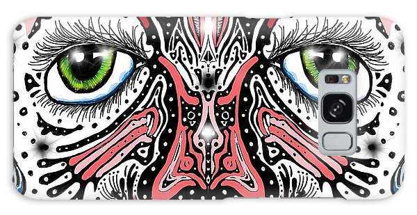 Doodle Face Galaxy Case by Darren Cannell