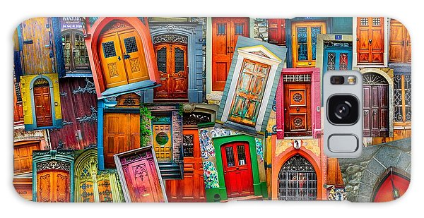 Door Collage Mashup Galaxy Case by TK Goforth