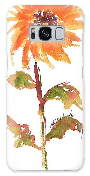 Door Keeper Sunflower Watercolor Painting By Kmcelwaine Galaxy Case