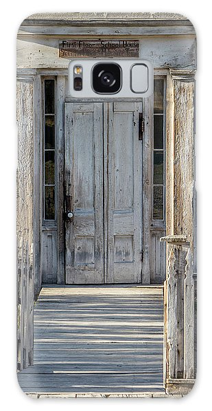 Door Of The Old Bannack Schoolhouse And Masonic Temple Galaxy Case