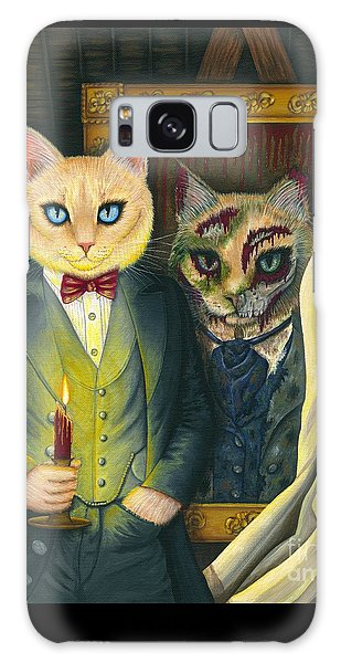 Galaxy Case featuring the painting Dorian Gray by Carrie Hawks