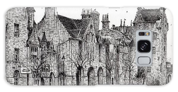 Pen And Ink Drawing Galaxy Case - Dornoch by Vincent Alexander Booth