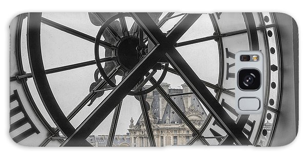 Galaxy Case featuring the photograph D'orsay Clock Paris by Joan Carroll