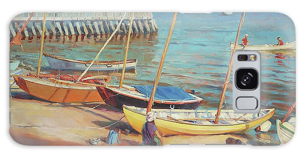 Docked Boats Galaxy Case - Dory Beach by Steve Henderson