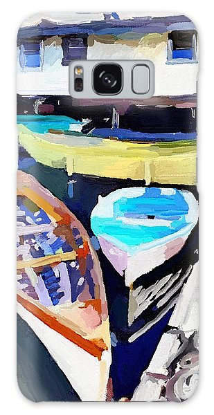 Dory Dock At Beacon Marine Basin - East Gloucester, Ma Galaxy Case