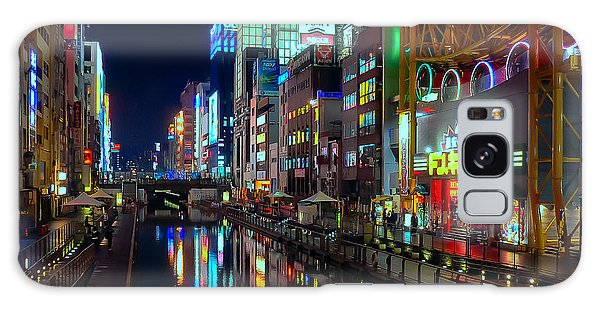 Dotonbori-gawa Canal At Night Galaxy Case