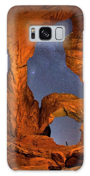 Double Arch At Night Galaxy Case