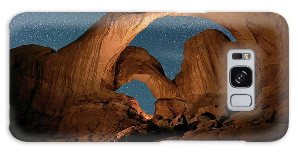 Double Arch And The Milky Way - Arches National Park - Moab, Utah By Olena Art - Brand  Galaxy Case