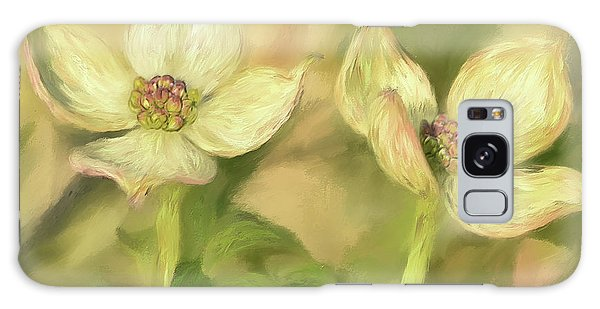 Double Dogwood Blossoms In Evening Light Galaxy Case by Lois Bryan