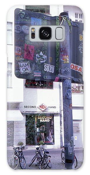 Double Exposure Street Sign Galaxy Case