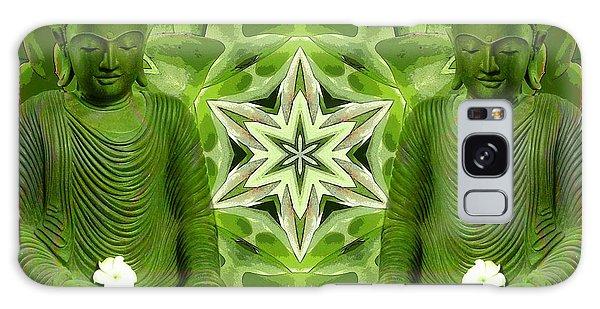 Double Green Buddhas Galaxy Case