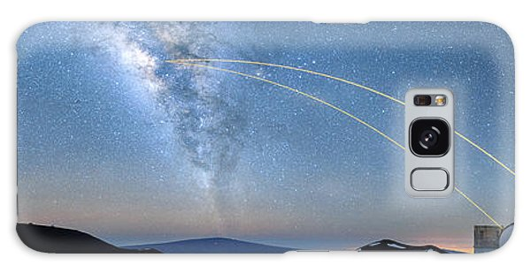 Double Lasers With The Milky Way Panorama Galaxy Case