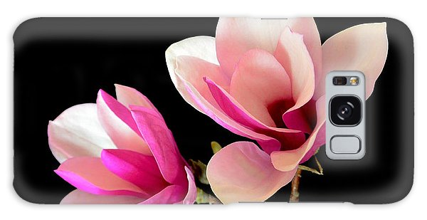 Double Magnolia Blooms Galaxy Case