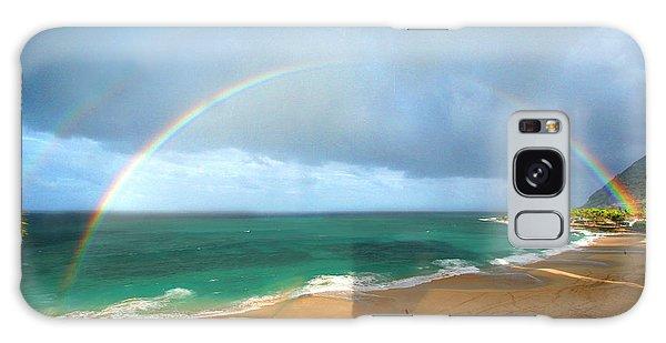 Double Rainbow Over Turtle Beach Galaxy Case