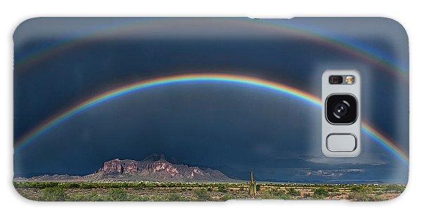 Galaxy Case featuring the photograph Double Rainbow  by Saija Lehtonen