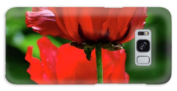 Double Red Poppies Galaxy Case