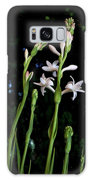 Double Tuberose In Bloom Galaxy Case