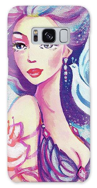Dove Mermaid Galaxy Case