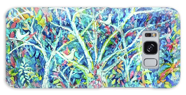 Doves In Trees Galaxy Case